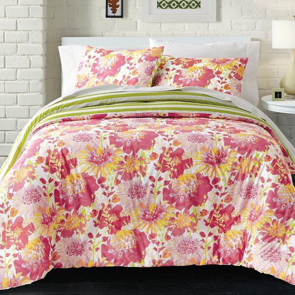 Mayfield 100% Cotton 2 Piece Reversible Comforter Set by Latitude Run